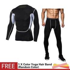 Spesifikasi Pria Kompresi Baju Olahraga Kamuflase Cetak Elastis Celana Ketat Kulit Lapisan Dasar T Shirt Cepat Kering Gym Latihan Kebugaran Menjalankan Celana Set Intl Murah Berkualitas