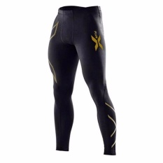 Ulasan Tentang Pria Kompresi Tight Long Pants Black Celana Panjang Jogger Joggers Emoji Slim Fit Mallas Hombre Fitness Pant Xxl Emas Intl