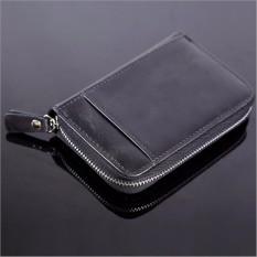 Spesifikasi Pria Kredit Id Card Holder Kulit Dompet Saku Ritsleting Tas Clutch Mini 20 Slot Hitam Intl Baru