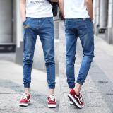 Diskon Pria Cropped Jeans Korea Street Sembilan Celana Elastis Kaki Tertutup Pants Slim Denim Skinny Pants Leisure Remaja Pants Kasual Siswa Celana Intl Oem