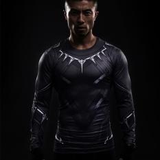 Jual Pria Crossfit Kaus Kompresi Lengan Panjang 3D Anime Captain America Black Panther Cepat Kering Bernapas T Shirt Tights Fitness Running Tops Intl Original