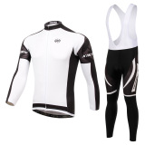 Promo Men Cycling Jersey And Bib Pants Set Long Sleeve Quick Dry Breathable Gel Padded Intl Xintown Terbaru