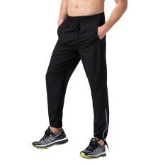 Jual Pria Fashion Pergelangan Kesemek Terikat Georgia Sports Pants Sport Kebugaran Dia Kering Hitam And Strip Reflektif Murah Tiongkok