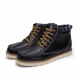 Diskon Men Fashion Boot Male Leather Outdoor Work Boots Shoes Kasut But Intl