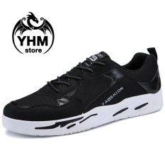 Spesifikasi Men Fashion Breathable Mesh Shoes Fashion Casual Flat Shoes Canvas Sneakers Intl Baru
