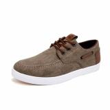 Top 10 Pria Fashion Kanvas Sneakers Cowboy Canvas Sepatu Intl Online