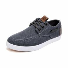 Toko Pria Fashion Kanvas Sneakers Cowboy Canvas Sepatu Intl Dekat Sini