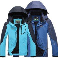 Toko Pria Fashion Casual Pasangan Olahraga Tipis Jaket Camping Hiking Waterproof Outdoor Windbreaker D5801M Denim Biru Terlengkap