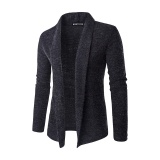 Jual Pria Fashion Warna Murni Wol Cardigan Sweater Abu Abu Gelap Intl Di Tiongkok