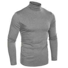Toko Pria Fashion Pelangsing Cocok Pakaian Dalam Termal Kaus Turtleneck Lengan Baju Panjang Padat T Shirt Terdekat