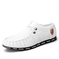 Jual Pria Formal Sepatu A Inggris Kasual Sepatu Dilengkapi Ventilasi Mesh Datar Sepatu Putih Intl Branded Murah