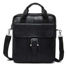 Toko Pria Kulit Asli Tas Crossbody Vintage Tas Bisnis Dual Use Handbag Intl Terlengkap Tiongkok
