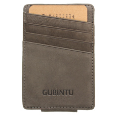 Beli Aequeen Dompet Pria Kulit Asli Kurus Langsing Id Pemegang Kartu Kredit Uang Saku Depan Kelabu Pake Kartu Kredit
