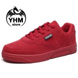 Promo Men High Quality Casual Shoes Fashion Sport Sneakers Pu Leather Street Shoes Intl