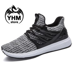 Jual Men High Quality Mesh Breathable Sport Shoes Fashion Slip On Lightweight Sneakers Street Shoes Intl