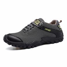 Toko Jual Pria Hiking Sepatu Tahan Air Outdoor Trekking Gunung Sepatu Olahraga Karet Sneakers Intl