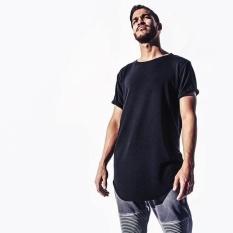 Harga Pria Hip Hop Tee Pullover Longline Besar Tshirt Swag Street Wear Atasan Hitam Internasional Oem Ori