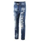 Review Pada Pria Jeans Robin Celana Denim Pria Ripped Hole Lengan Lembut Biker Klasik 09 Internasional