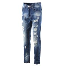 Spesifikasi Pria Jeans Robin Celana Denim Pria Ripped Hole Lengan Lembut Biker Klasik 09 Internasional Murah
