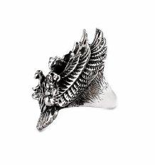 Promo Men Jewelry Eagle Ring Titanium Steel Cincin Pria Murah