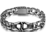 Review Men Jewelry Kerf Bracelet Titanium Steel 20Cm Gelang Pria Men S Jewelry