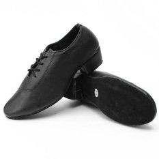 Harga Pria Kid Boy Leather Mid Heel Latin Tango Sepatu Dansa Jazz Salsa Waltz Ballroom Intl Original