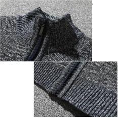 Beli Pria Merajut Cotton Stand Berdiri Zipper Hangat Musim Dingin Mantel Tebal Jaket Gy L Intl Cicilan