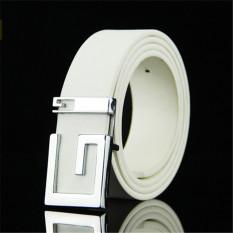 Ulasan Lengkap Tentang Men Korean Style G Letter Belt Mbt885103 5 White