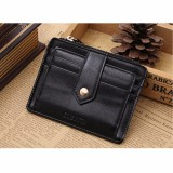 Review Tentang Aequeen Dompet Kartu Pria Men Leather Bifold Slim Wallet Purse Credit Card Id Holder Money Clip Coin Bag Black Intl