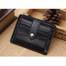Harga Aequeen Dompet Kartu Pria Men Leather Bifold Slim Wallet Purse Credit Card Id Holder Money Clip Coin Bag Black Intl Branded