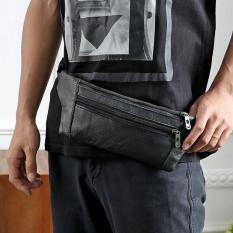 Model Pria Kulit Pinggang F*Nny Pack Bum Adjustable Belt Bag Pouch Travel Hip Purse Bk Intl Terbaru