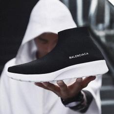 Jual Men Leisure Bernapas Outdoor High Top Kaus Kaki Sepatu Kets Flat All Match Fashion Skateboard Sepatu Freestyle Hip Hop Sepatu Original