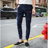 Pria Panjang Jeans Korea Street Sembilan Celana Cropped Pants Slim Denim Skinny Pants Leisure Remaja Celana Siswa Kasual Celana Intl Diskon Tiongkok
