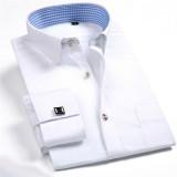 Spesifikasi Pria Lengan Panjang Polos Kemeja Formal Putih Mfs20 Xs Xxxl Internasional Baru