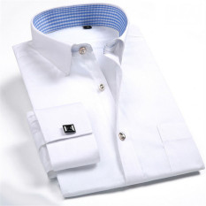 Jual Pria Lengan Panjang Polos Kemeja Formal Putih Mfs20 Xs Xxxl Internasional Lengkap