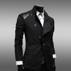Pria Kasual Slim Fit Korea Gaun Mantel Jaket Suit