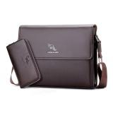 Spesifikasi Pria Messenger Bag Yueskangaroo Kingdom Premium Pu Kulit Vertikal Bisnis Casing Ransel Dengan Dompet Gratis Brown Intl