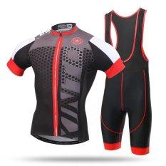 Harga Pria Mtb Mountain Road Sepeda Sportswear Sepeda Jersey Set Abu Abu Intl Oem Tiongkok