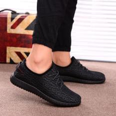 Spesifikasi Pria Baru Fashion Kain Casual Olahraga Sepatu Hitam Intl