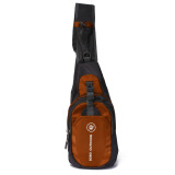 Jual Men Nylon Waterproof Outdoor Sports Sling Chest Bag Shoulder Bag Orange Intl Ori