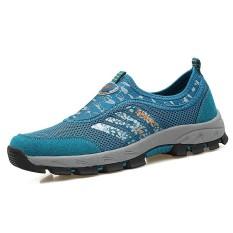 Spesifikasi Men Outdoor Leisure Shoes Summer Breathable Climbing Hiking Shoes Runway Shoes Cycling Shoes Fishing Shoes Intl Dan Harga