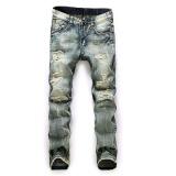 Beli Pria Ukuran Lebih Jeans Lurus Pria Tertekan Denim Celana Biker Jeans Ro Designer Bin Jeans Untuk Pria Agama Outfits Intl