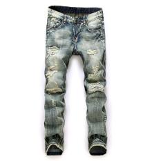 Promo Pria Ukuran Lebih Jeans Lurus Pria Tertekan Denim Celana Biker Jeans Ro Designer Bin Jeans Untuk Pria Agama Outfits Intl Di Tiongkok