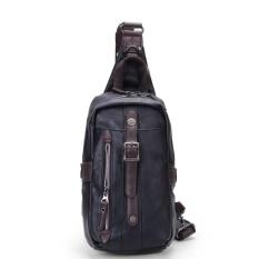 Beli Pria Pu Kulit Chest Pack Serbaguna Shoulder Sling Bag Backpack For Outdoor Olahraga Sepeda Travel Sunmig Online