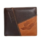 Jual Men Pu Leather Id Credit Card Holder Clutch Bifold Coin Wallet Pocket Coffee Intl Branded
