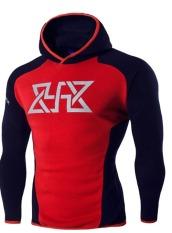 Spesifikasi Pria Running Fitness Hooded Sweater Printing Hoodies Navy Blue Intl Intl Yang Bagus