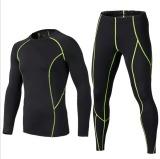 Harga Pria Senam Lengan Panjang Celana Baju Olahraga Kompresi Tights Pakaian Dan Celana Terbaik