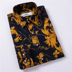 Katalog Men S Long Sleeved Shirt Korean Floral Casual Shirt Intl Oem Terbaru