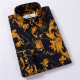 Promo Men S Long Sleeved Shirt Korean Floral Casual Shirt Intl Oem