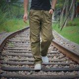 Beli Men S Multi Pocket Overall Laki Laki S Longgar Longgar Lurus Panjang Celana Lemak Untuk Meningkatkan Ukuran Pria Pakaian Intl Cicil